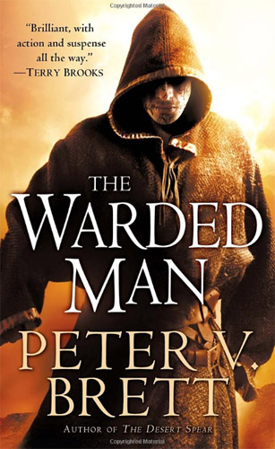 The cover for Warded Man by Peter V. Brett