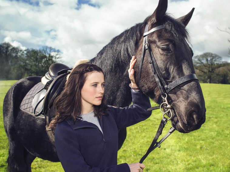 Pictured: TK (Horse) and KIT (Kendra Timmins) in RIDE on Nickelodeon. Photo: Stuart Pettican/Nickelodeon. 2016 Viacom International Inc. All Rights Reserved